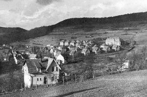Blick auf Theisenbach und Landratsamt